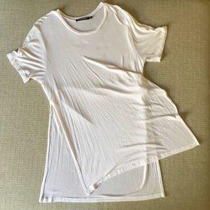 Brandy Melville Oversized white t-shirt/ Tunic OS